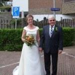 Schitterende bruid op leeftijd