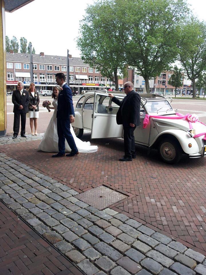 echte bruid trouwjurk van kant