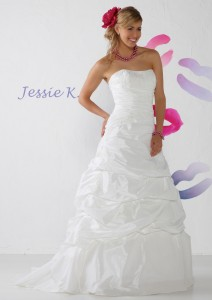Jessie K JK1103 maat 50, Maatje meer trouwjurk, grote maat trouwjurk, bruidsmode maatje meer, volslanke bruid