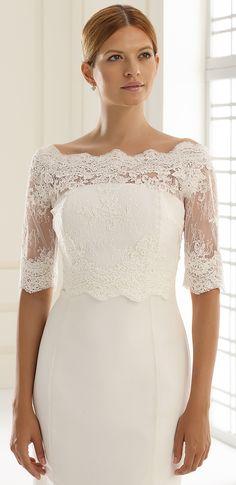offschoulder bruidsjurk kant, trouwjurk