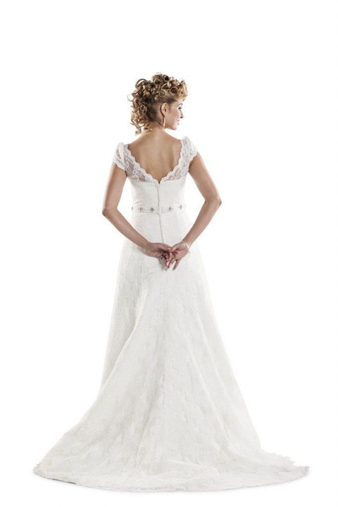 Bridalstar, kanten trouwjurk met mouwtjes