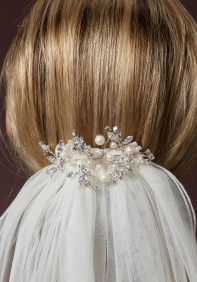 haar accessoire bruid met sluier