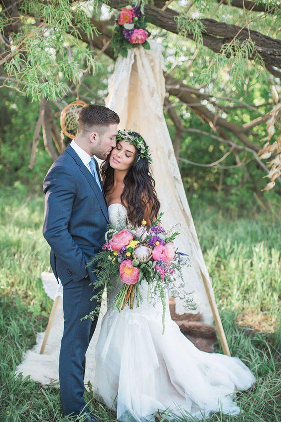 Boho Chic bruiloft, Boho bruid, bruidsmode mariska