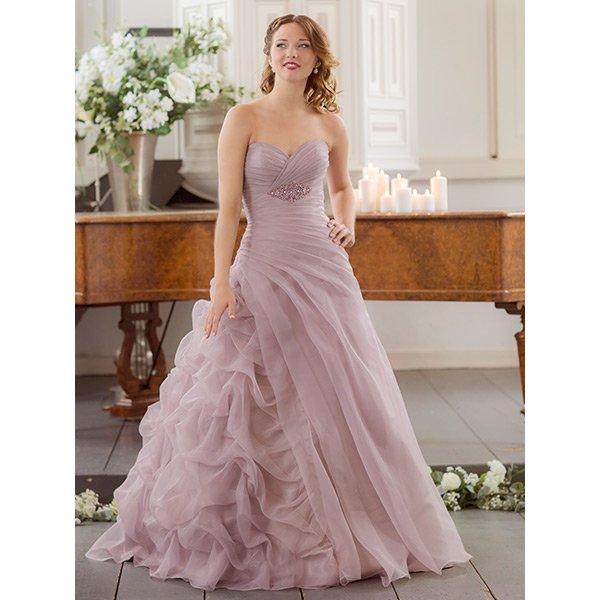 Gekleurde trouwjurk, bruidsmode
