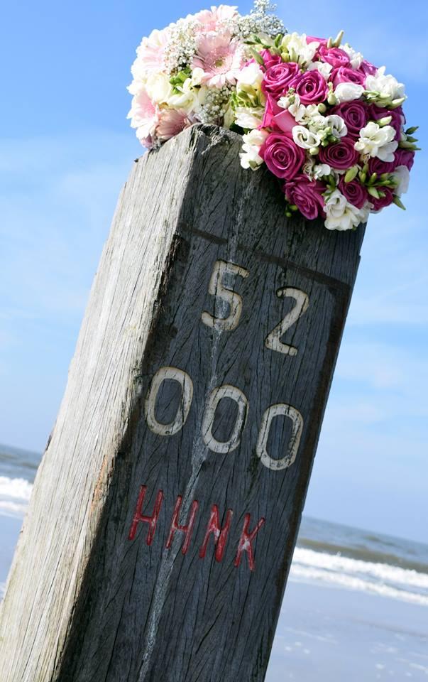trouwen op het strand, zoomers