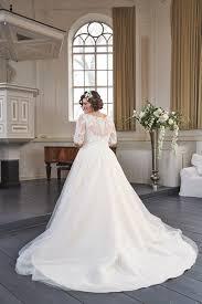 Boho bruid, bruidsmode mariska,kanten trouwjurk met mouwen