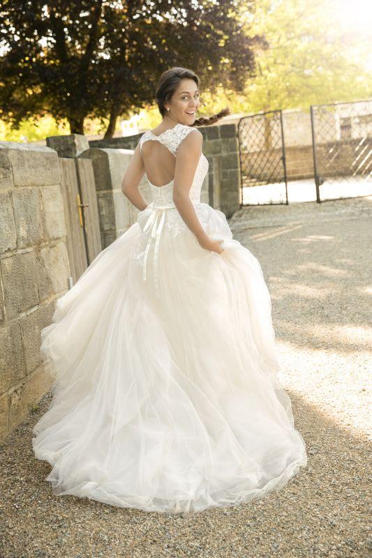 Kleemeier trouwjurk, bohemian trouwjurk rug