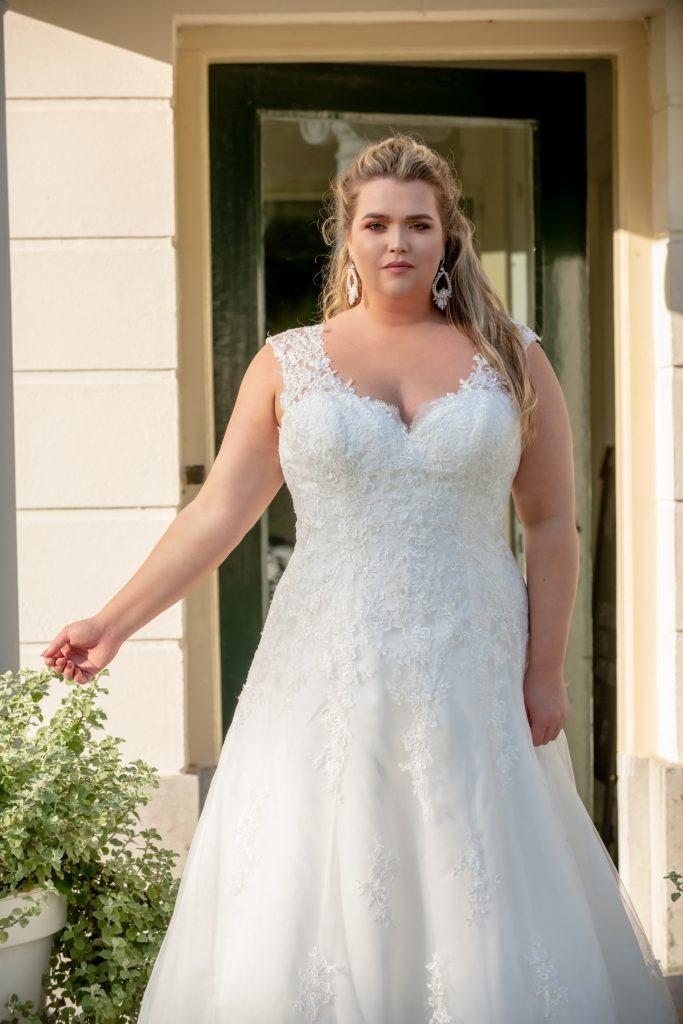 Bridalstar bruidsjurk grote maat, plussize trouwjurken