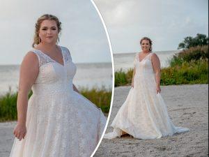 Bridalstar boho trouwjurk grote maat