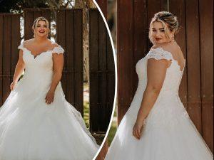 Bridalstar grote maten trouwjurk